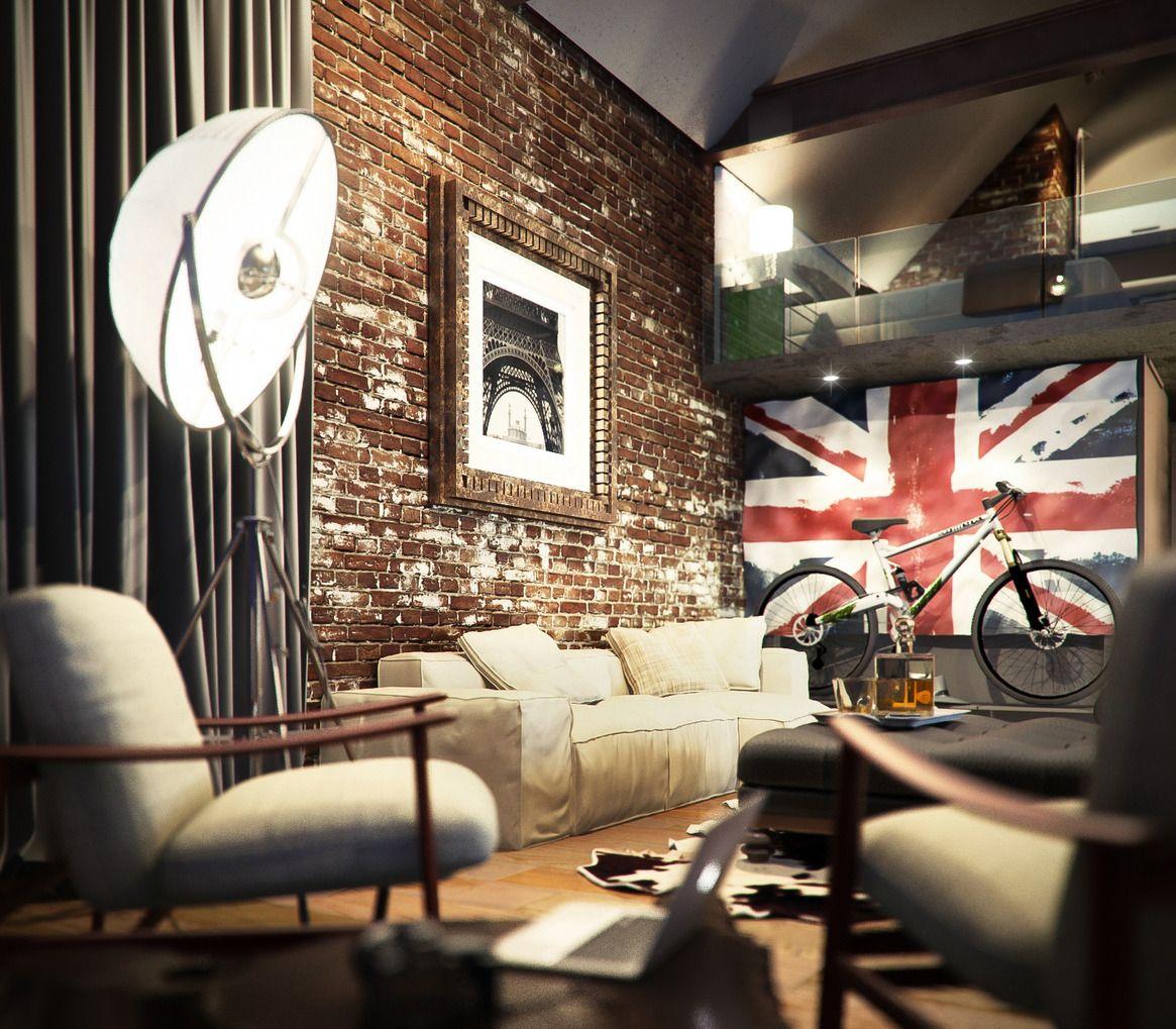 loft style - ik ben dol op die engelse vlag :-) | home || living