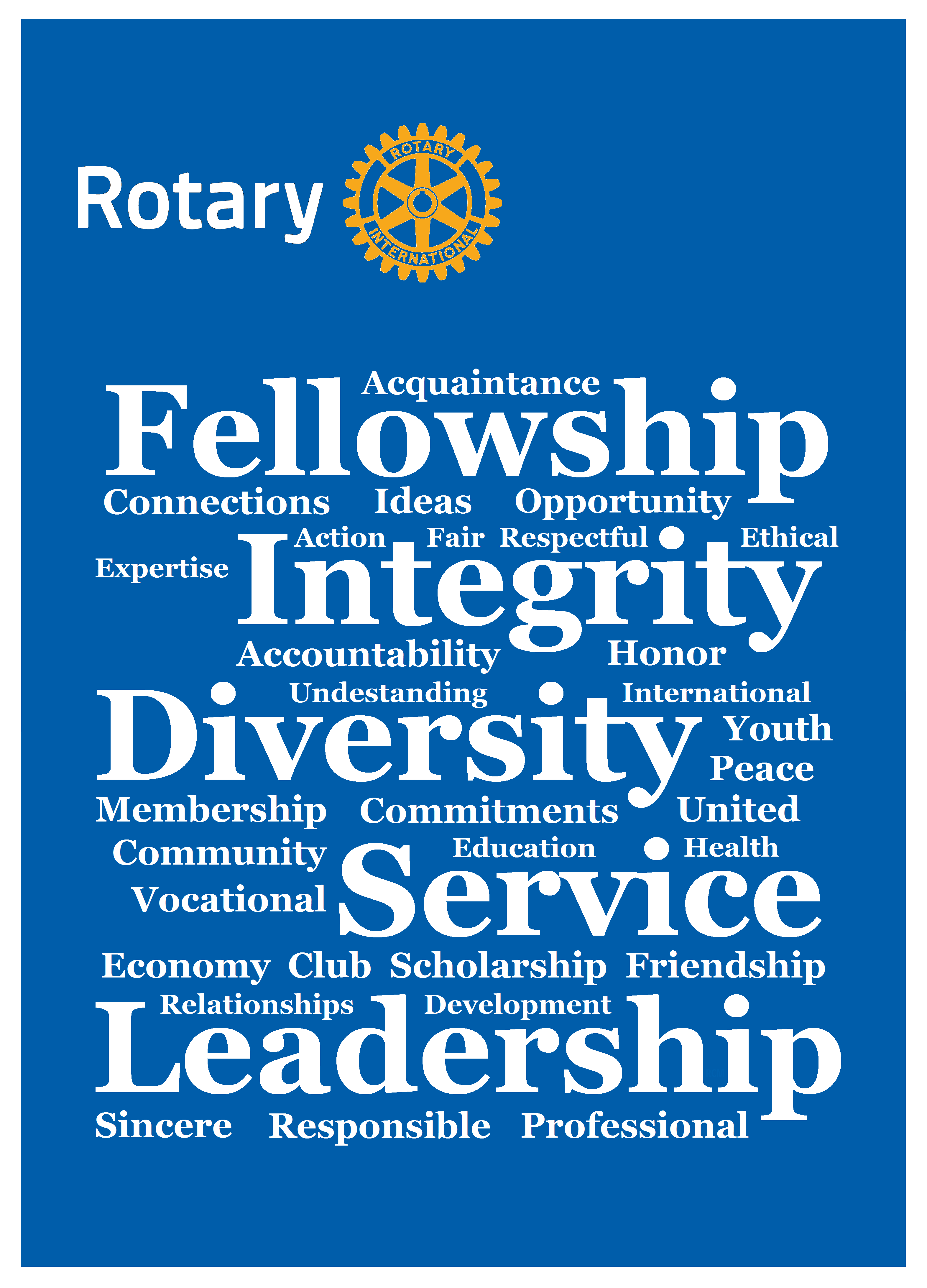 rotary mini poster rotary s core value word cloud by gt rotary club rotary international rotary rotary mini poster rotary s core