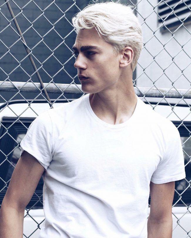 Platinum Blonde Top For Light Base And Sides White Hair Men Men Blonde Hair Platinum Blonde Hair