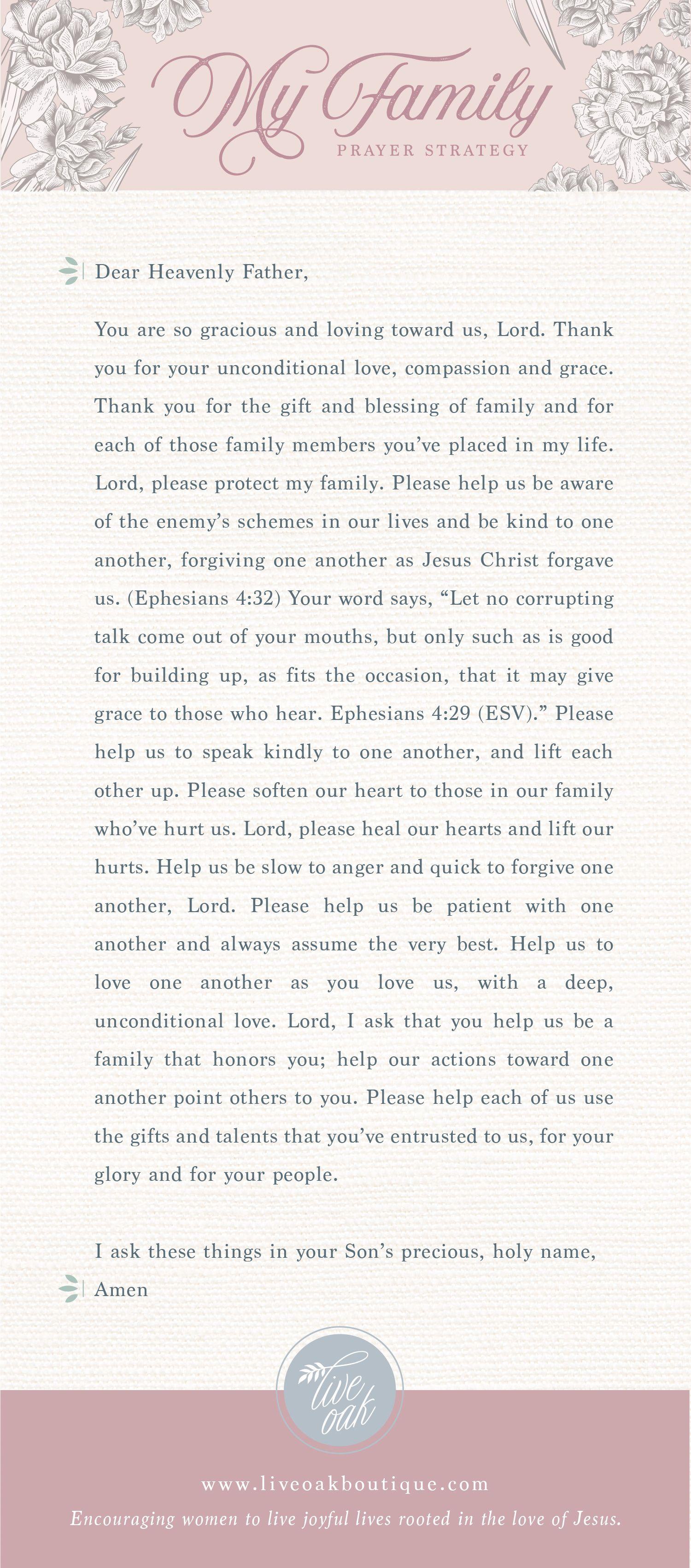 Fervent: Prayer Strategy for Family | War Binder | Prayer for family