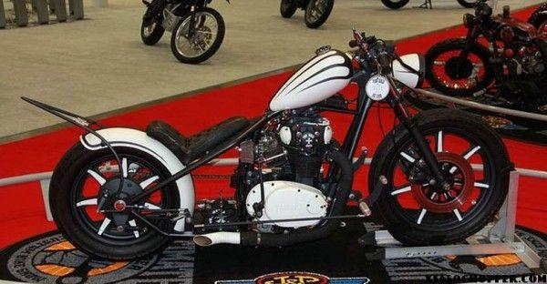 "1980 XS650 ""White Noise"" | Dewey bikes | Custom wheels, Vossen"