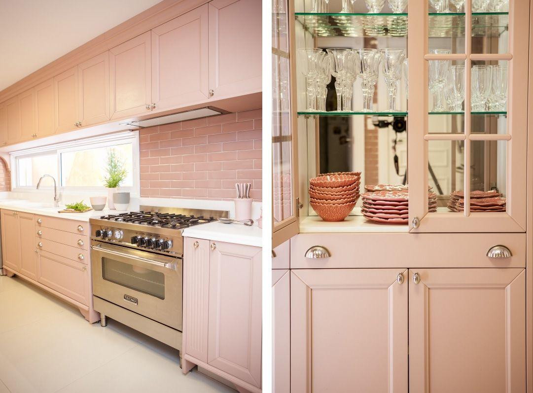 Uma Cozinha Rosa Dos Sonhos Pinterest Cozinha Rosa Maria