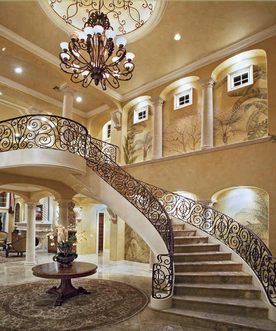 Beautiful Mansion Foyers : Estate foyers look at some grand from houzz
