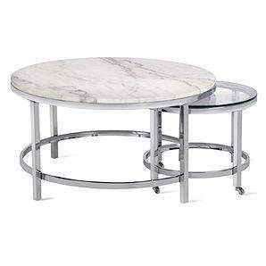 Vincente Coffee Table Set Of 2 Ottoman Table Round