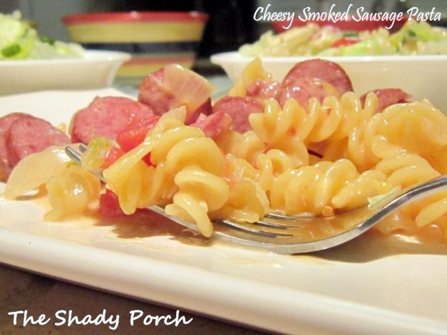 Cheesy Smoked Sausage Pasta with a spicy kick