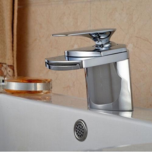 46.23$ Watch now - Chrome Brass Big Waterfall Bathroom Faucet Deck ...