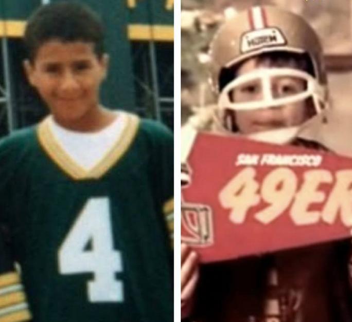 Colin Kaepernick Aaron Rodgers Childhood Pics Mind Blown Aaron Rodgers Nfl Funny Football Funny