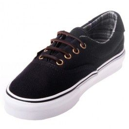 wear these vans era 59 with pride with these black shoes
