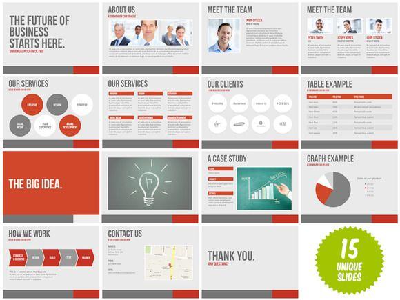 Universal Pitch Deck Two Powerpoint Powerpoint Presentation Design Poster Presentation Template Powerpoint Presentation