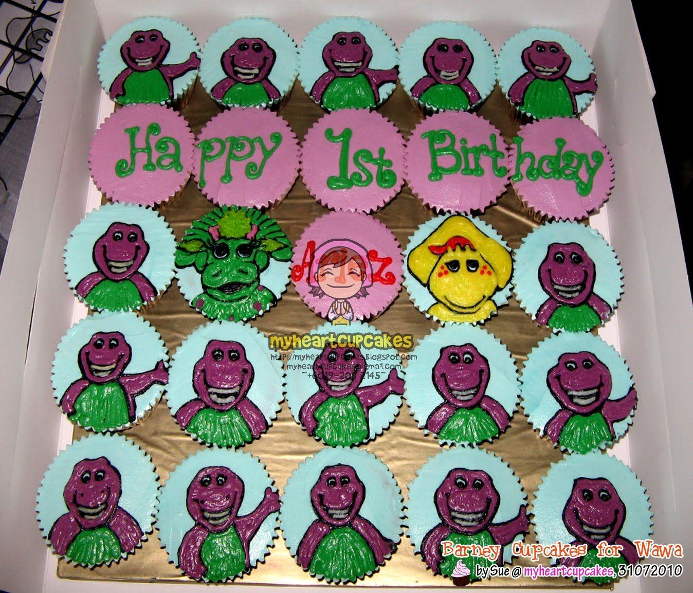 Barney Cupcakes! | Cute N\' Cupcakes | Pinterest | Cake