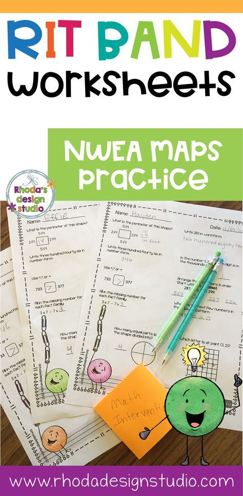 Nwea Map Prep Math Practice Worksheets Rit Band 191 200