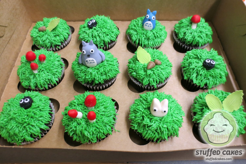 Totoro Cupcakes By Stuffed Cakes StuffedCakes Custom