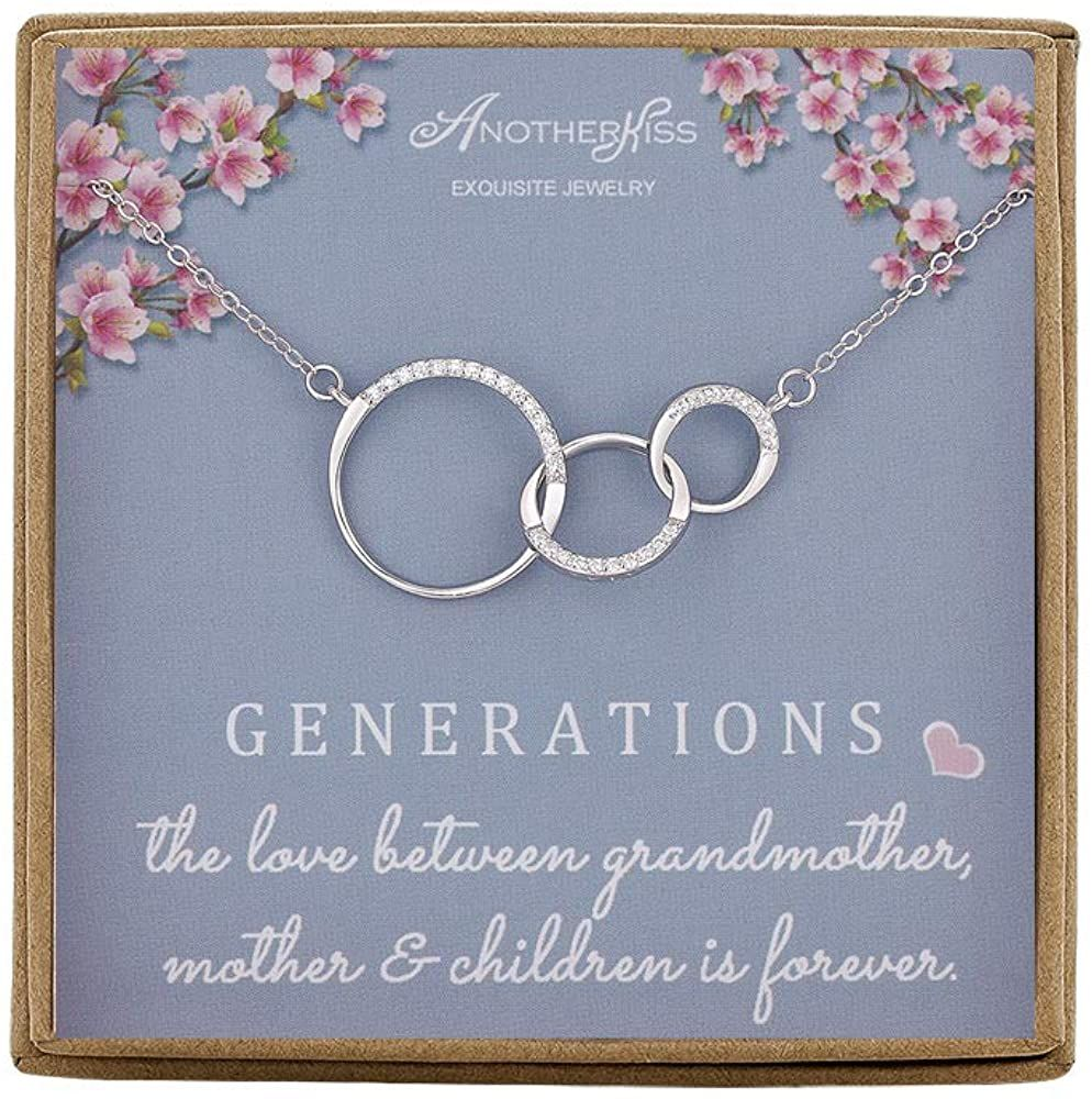 Generations necklace for grandma gift