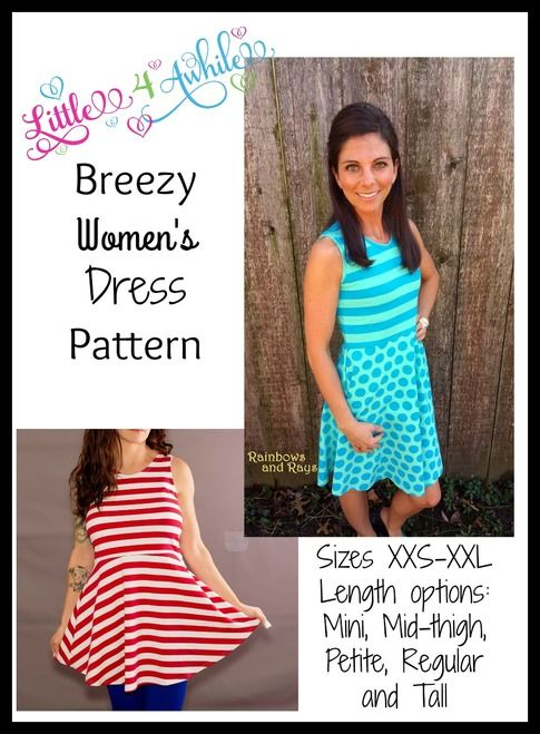 Breezy Women\'s Dress Pattern   project ideas   Pinterest