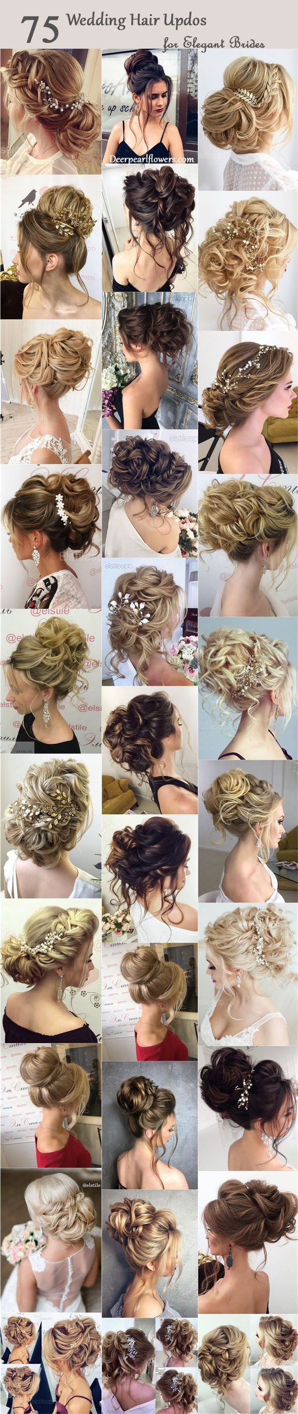 75 Chic Wedding Hair Updos for Elegant Brides #naturalhairupdo