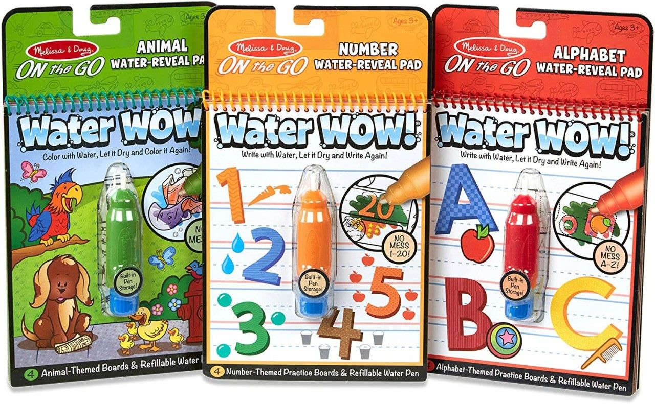 Melissa Doug On The Go Water Wow Reusable Water Reveal Activity Pads Only 2 84 Become A Coupon Queen In 2020 Animal Coloring Books Animal Books Coloring Books