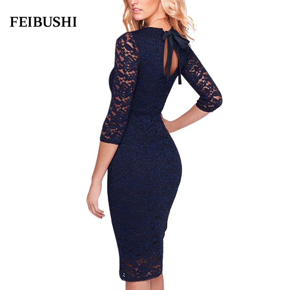 441b88e6806506 Click to Buy << FEIBUSHI Womens Modal Solid Black Cotton Elegant Sexy One  Shoulder Sheath Long Sleeve Casual Party Bodycon Pencil Dress Vestidos  #Affiliate