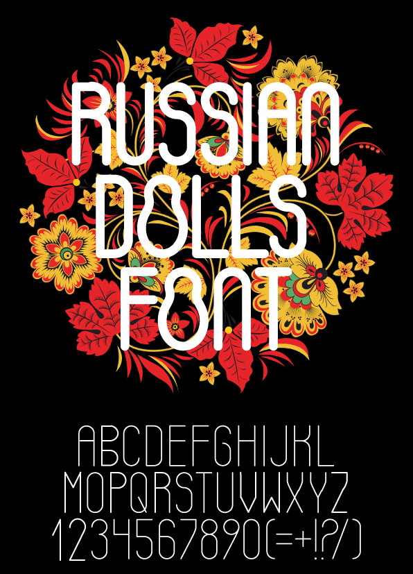 Russian Dolls Font Free on Behance