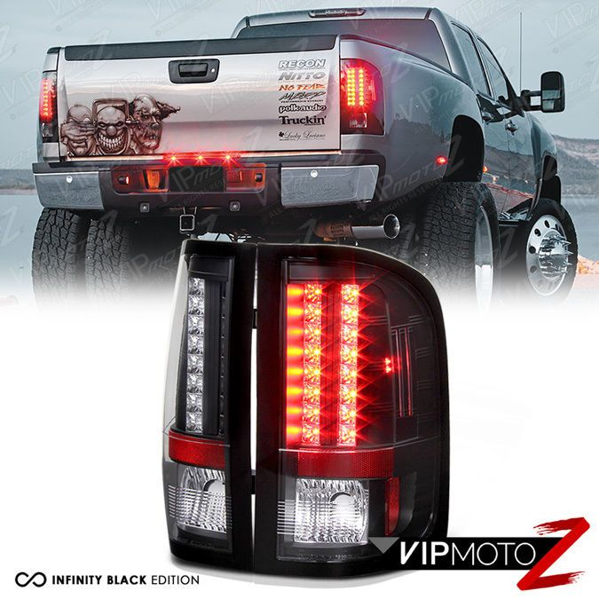 L R Led Black Tail Light Signal Lamp For Chevy 07 14 Silverado Wt Lt Ltz Truck Tail Light Black Diamond Headlamp 2014 Silverado