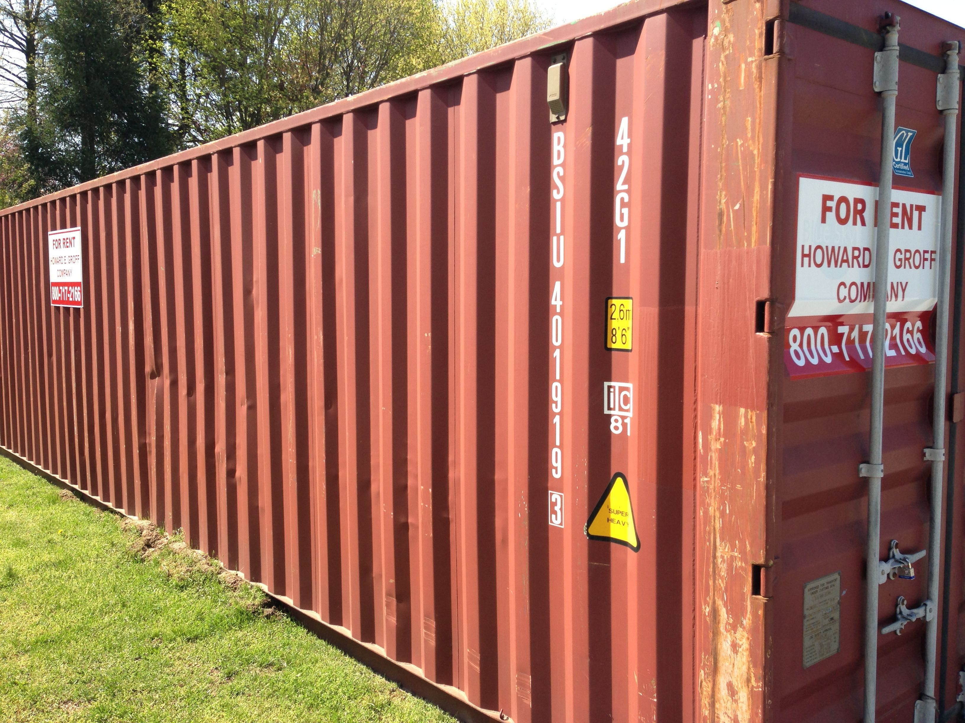 40 Standard Height Shipping Container, Prefix Cbhu (Cosco), Just Delivered