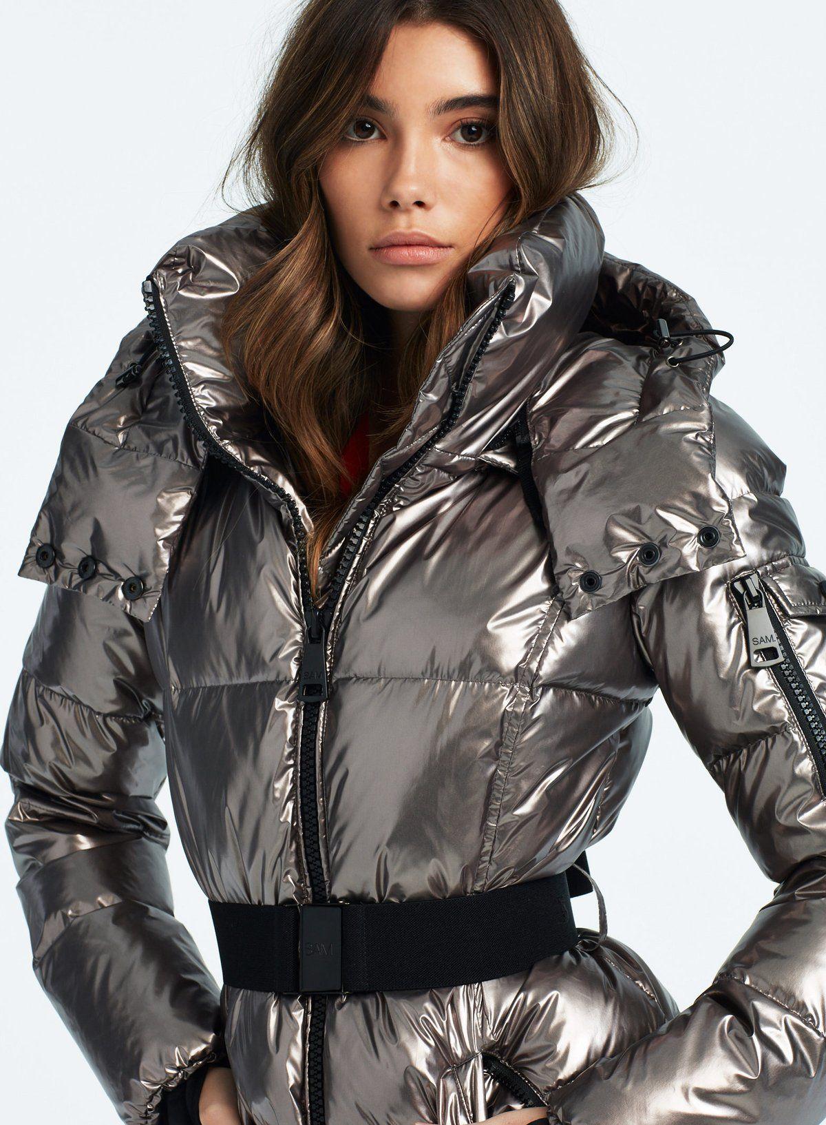 Soho Gunmetal Puffer Jacket Women Outerwear Women Jackets [ 1633 x 1200 Pixel ]