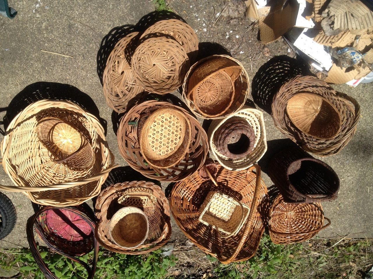 Tons of baskets to choose from - all shapes and sizes at very reasonable prices.