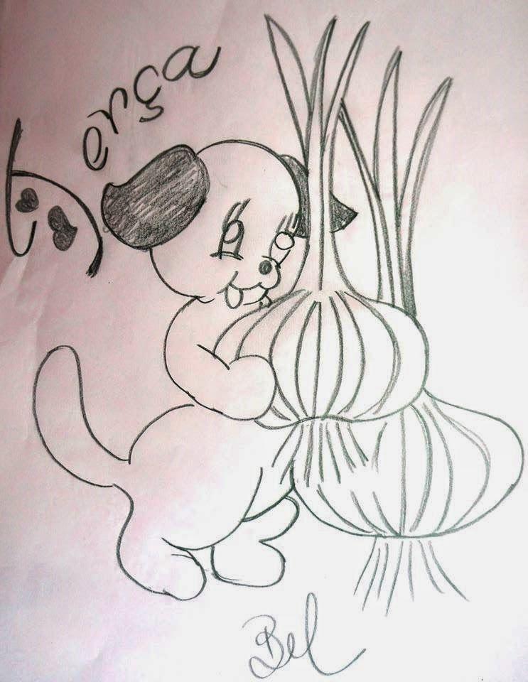 desenho da semaninha do cachorrinho com frutas terca feira