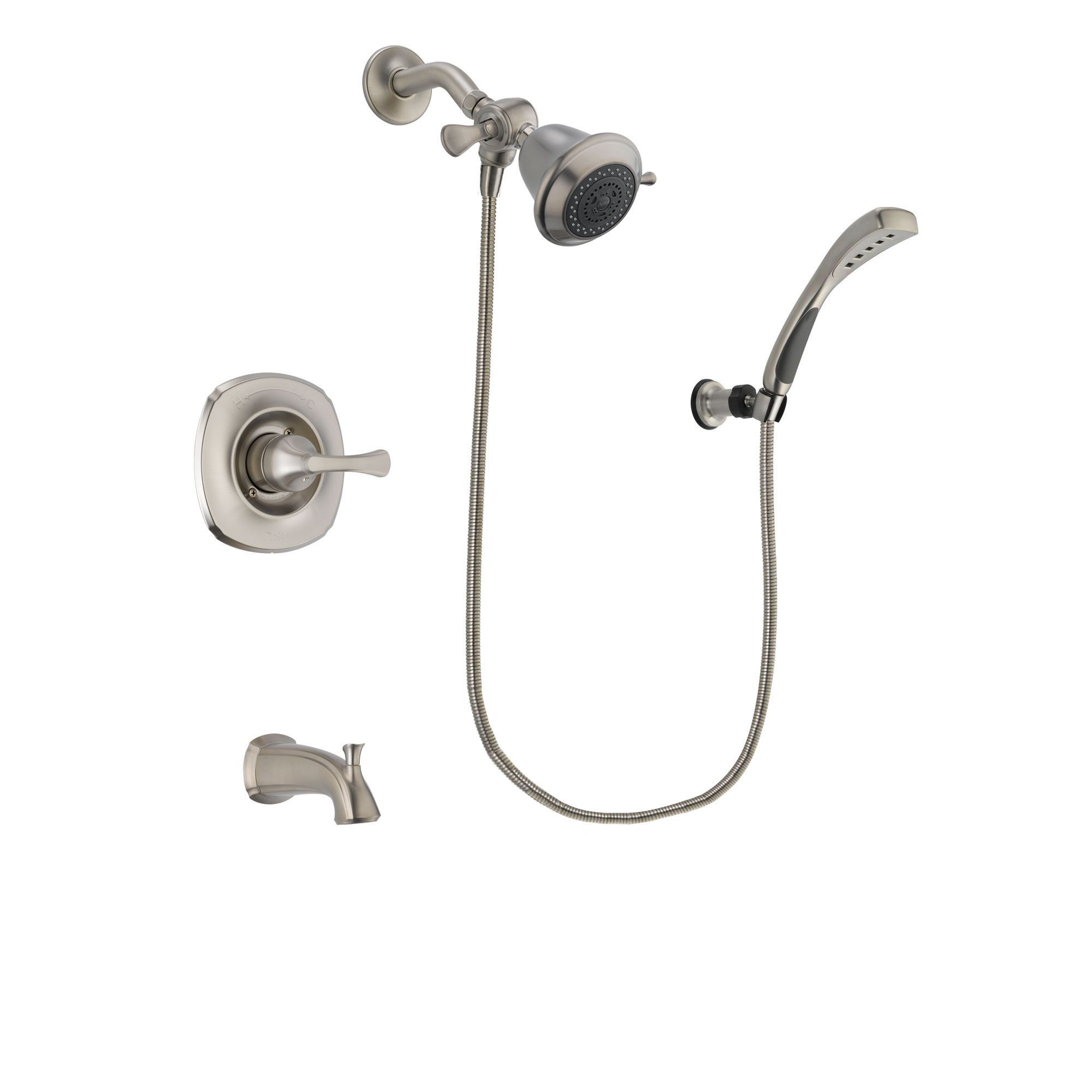 Delta Addison Stainless Steel Finish Tub and Shower Faucet System ...