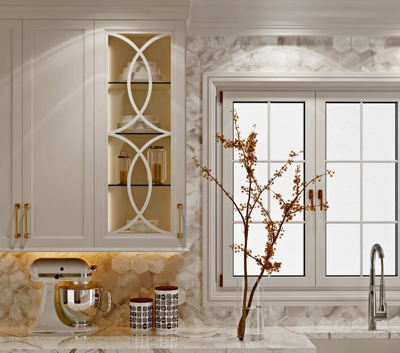 Mullion Inserts Kitchen Cabinet Mullion Glass Overlay Etsy In 2020 Glass Cabinet Doors Glass Kitchen Cabinets Kitchen Glass Doors