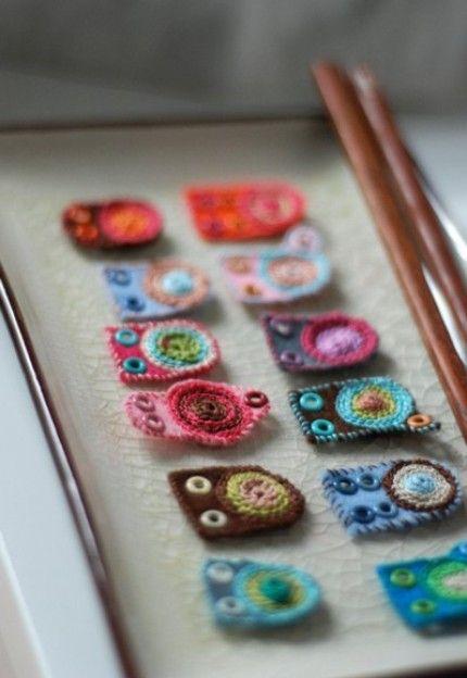 Kan brukes til mange forskjellige typer tekstilsmykker. clever textile beads. really.