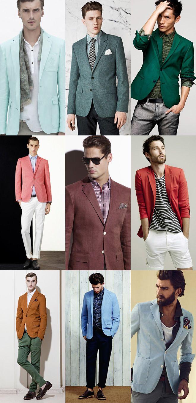 Men's Statement Blazers: Block Colour Blazers Lookbook Inspiration