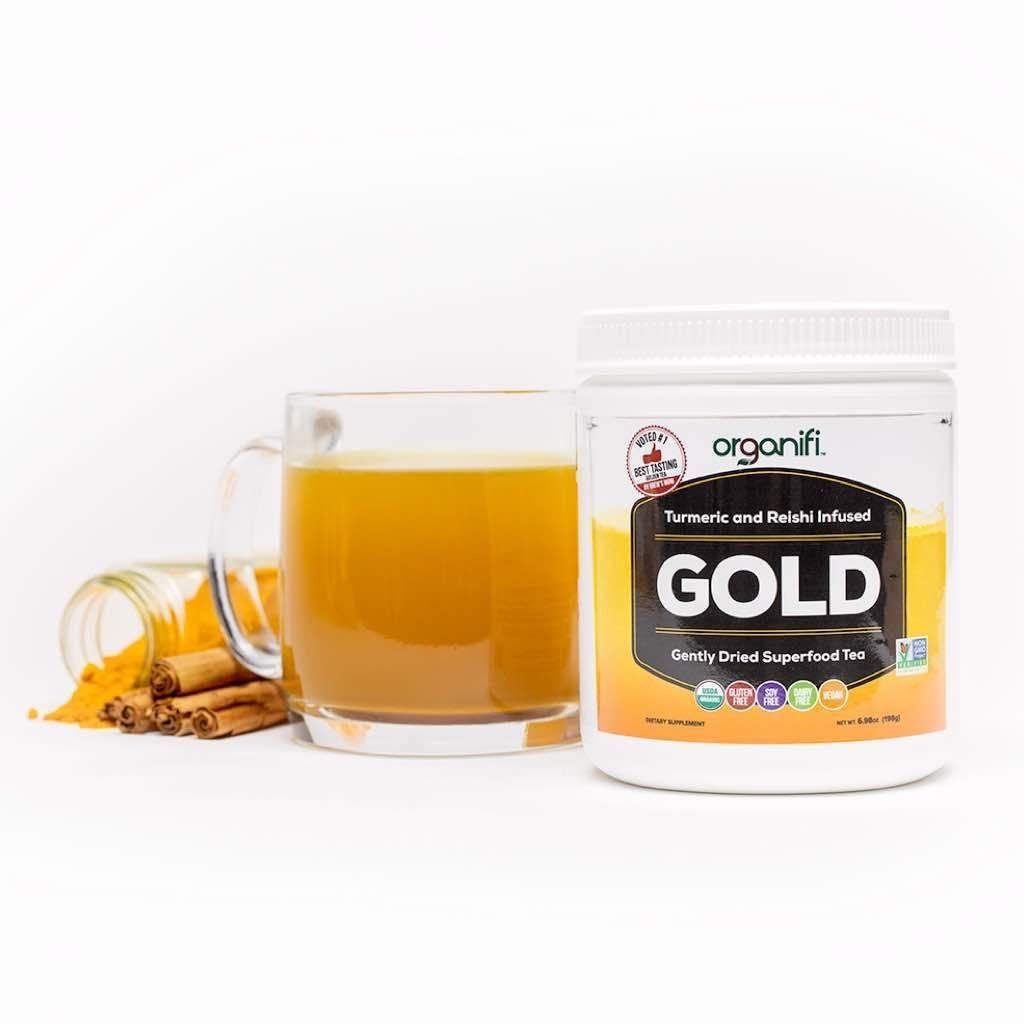 Organifi Gold Improve Sleep Soothe Muscles Support Joints In 2020 Organifi Superfood Powder Superfood Ingredients