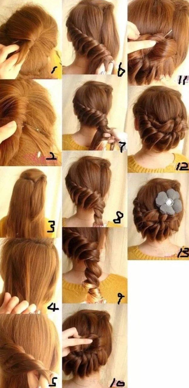 Long Hair Braided Hair Styling Design Tutorial