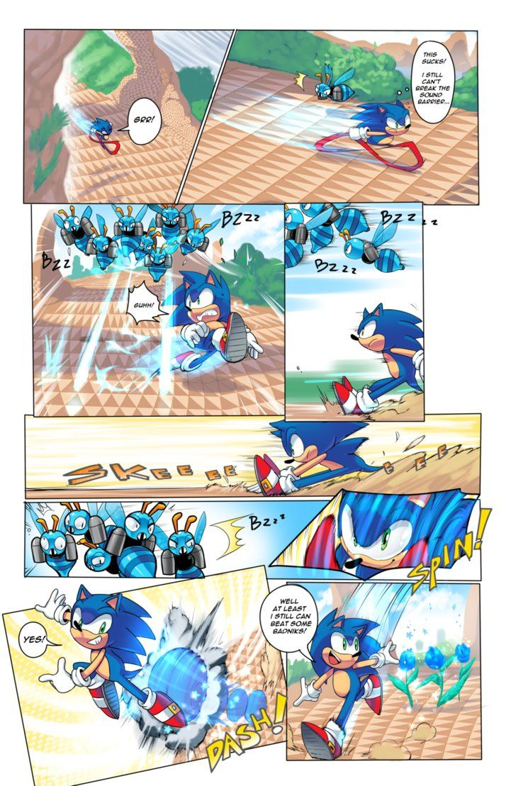 The Point Here Is To Show You That Sonic Is Slower Now That He Is