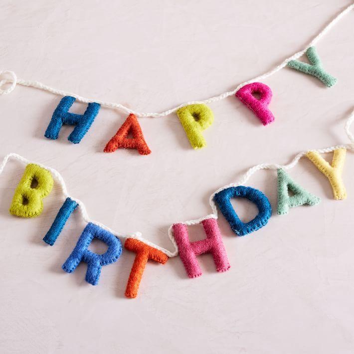 Felt Garland - Happy Birthday