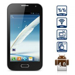 $96.53 5.0 inch i7100 Smart Phone with Android 4.0 WVGA Screen 1GHz Dual SIM Analog TV WiFi (Black)