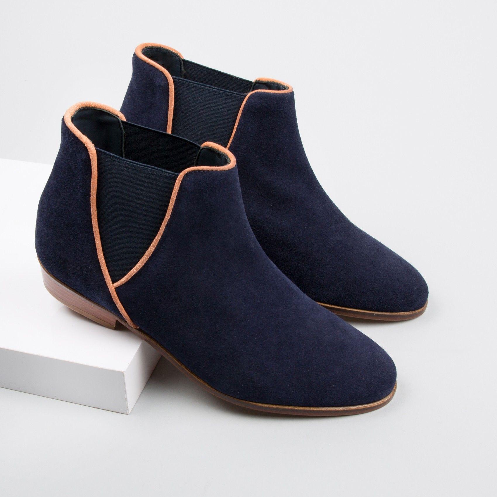 chelsea boots bleu marine - la londonienne - bobbies | *shoe*shoe
