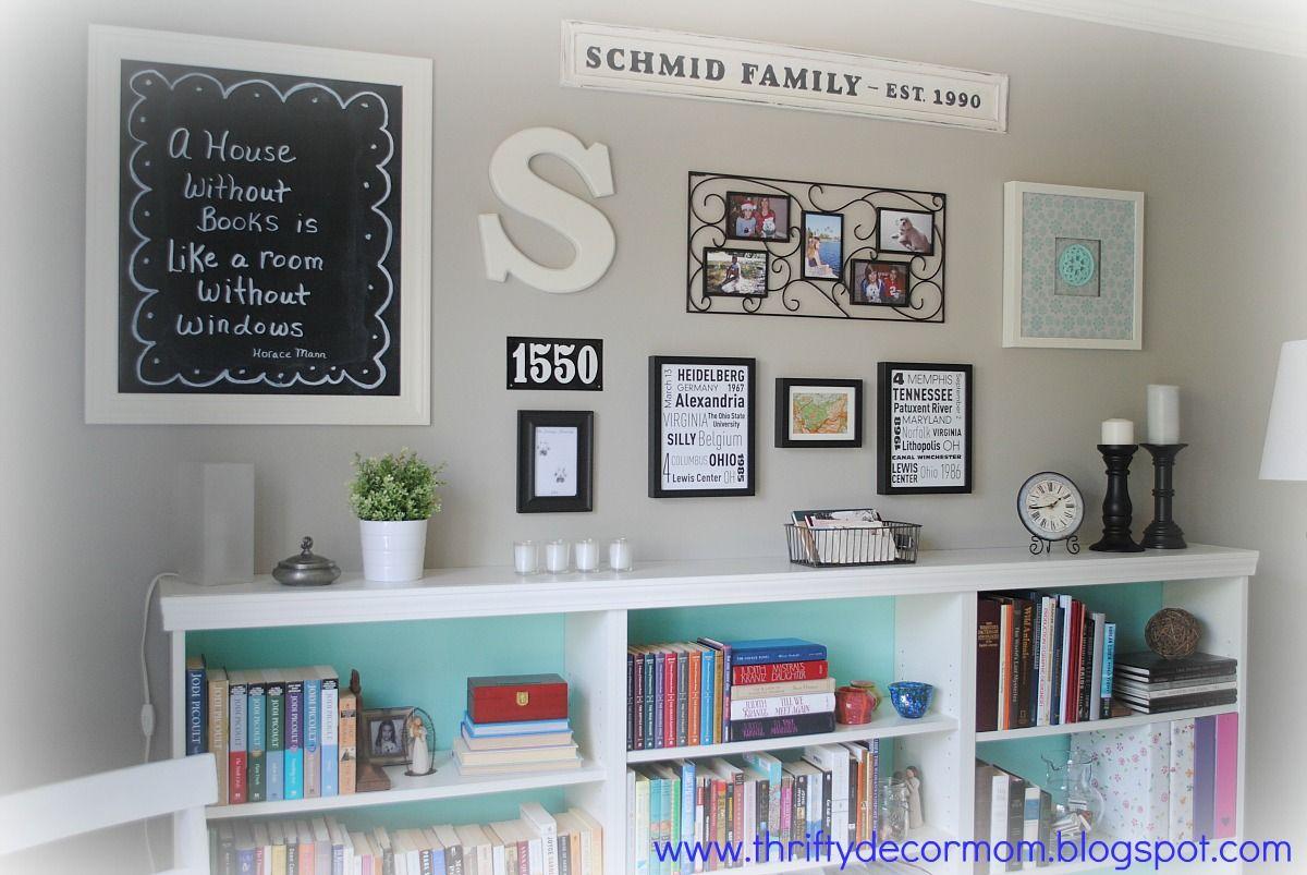 thrifty decor mom: house tour. wall color: valspar - frappe. soft