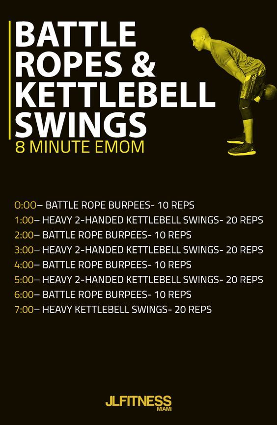 Emom Workout Battle Ropes And Kettlebell Swings