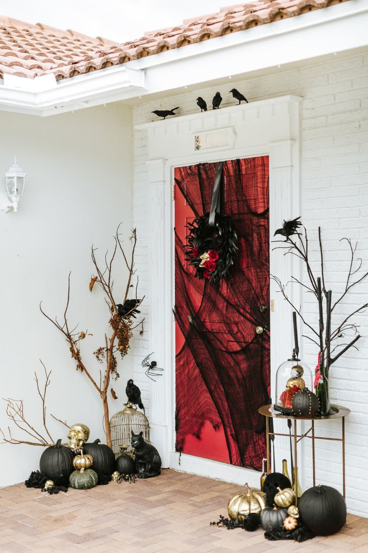 Trick or Greet How to Style the Best Looking Halloween Door