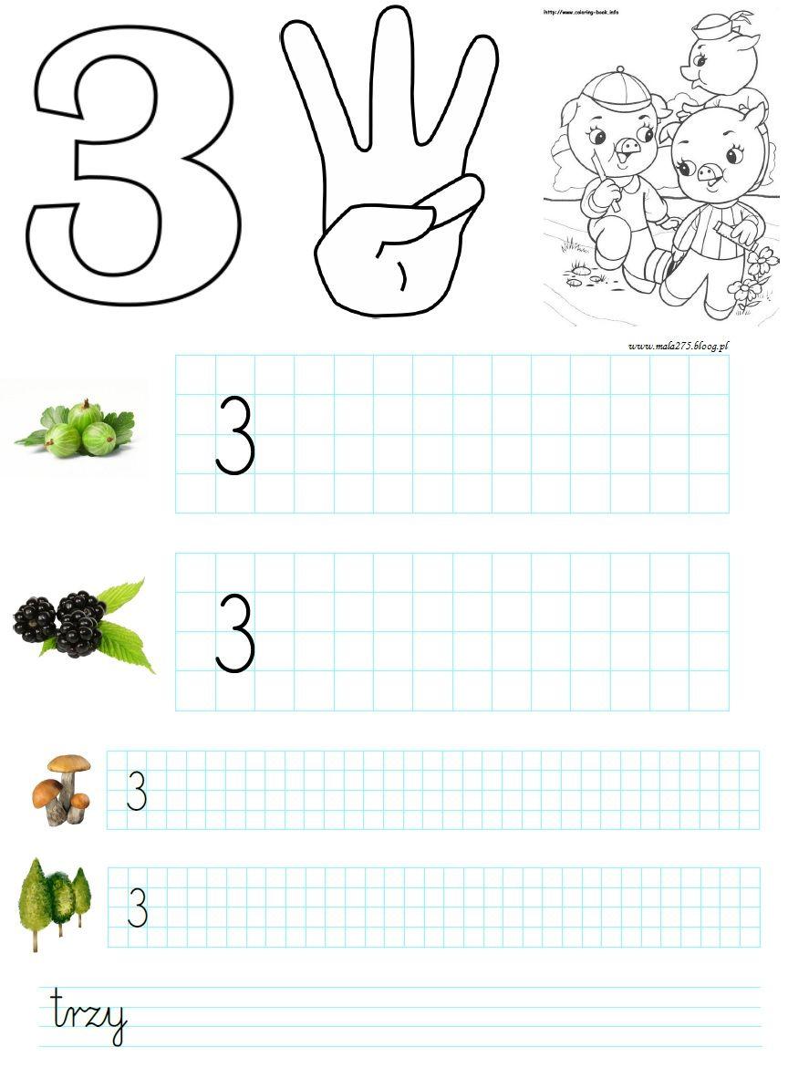 Blog Edukacyjny Dla Dzieci Cyfra 3 Karty Pracy School Frame Kids School Coloring Pages