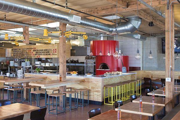 Captivating Pizza Restaurant Interior Design