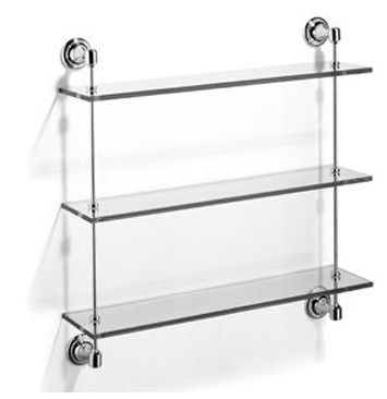 fairfield three tier glass shelf fairfeild accessories samuel heath accessories bathroom accessories - Bathroom Accessories Glass Shelf