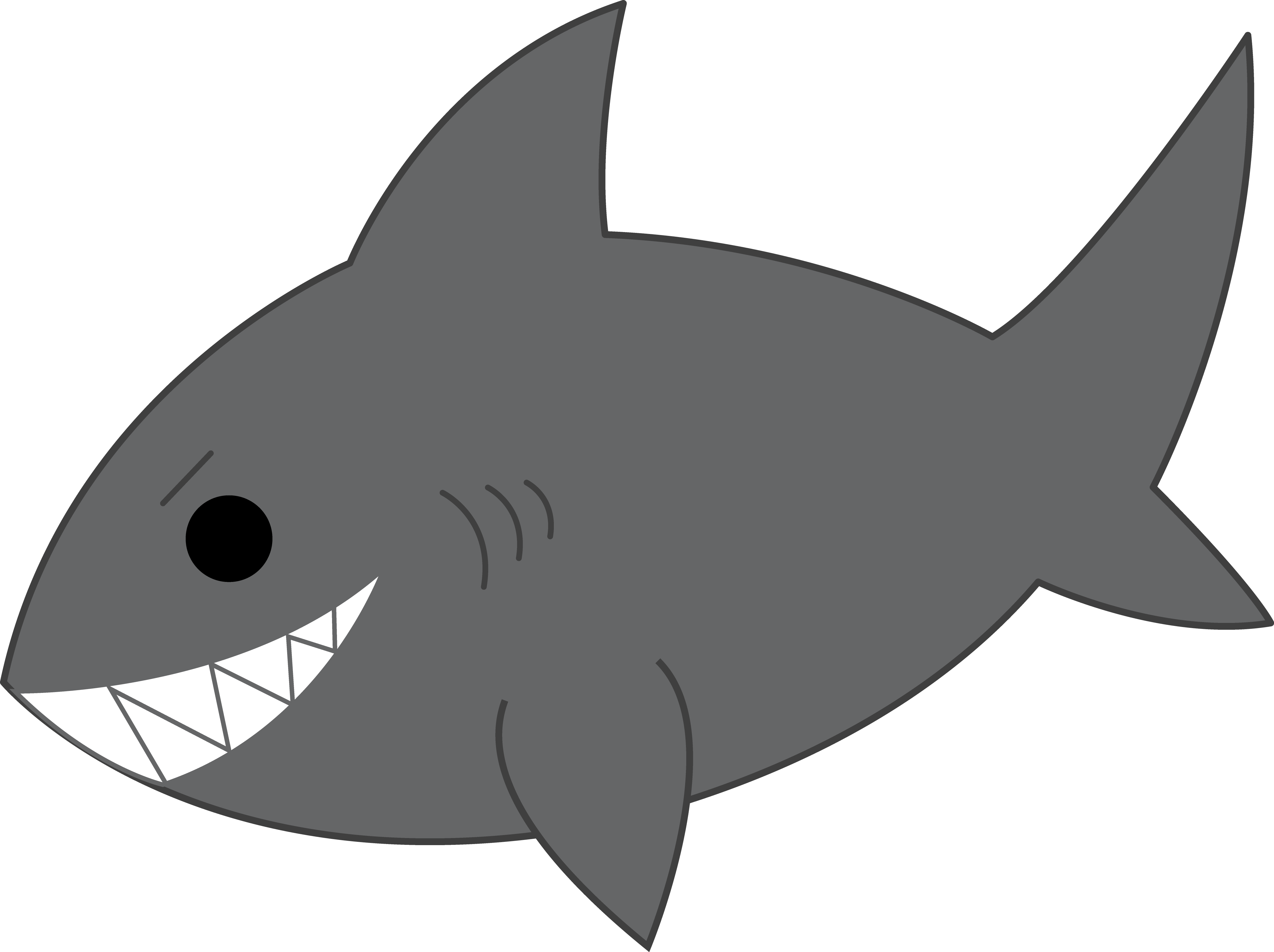 31+ Baby shark clipart black and white info
