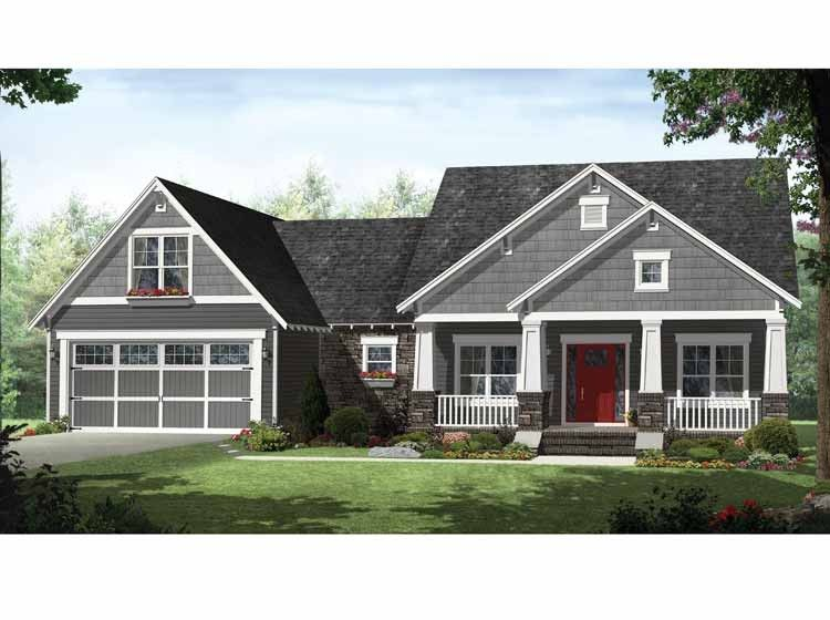 Craftsman House Plan With 2199 Square Feet And 4 Bedrooms From Dream Home Source House P Craftsman Style House Plans House Plan Gallery Craftsman House Plans