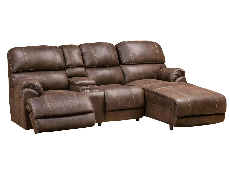 Homeland Collection Right Chaise Sofa Reclining Sectional With