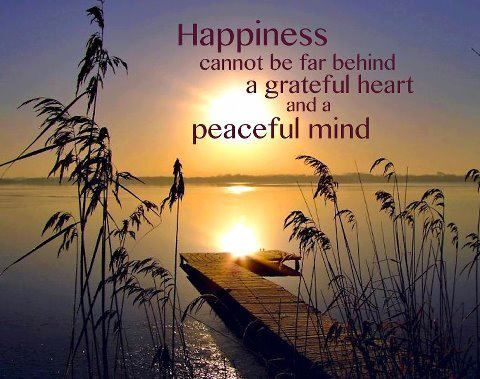Happiness Cannot Be Far Behind A Grateful Heart And Peaceful Mind Peace Of Mind Quotes Gratitude Quotes Grateful Heart