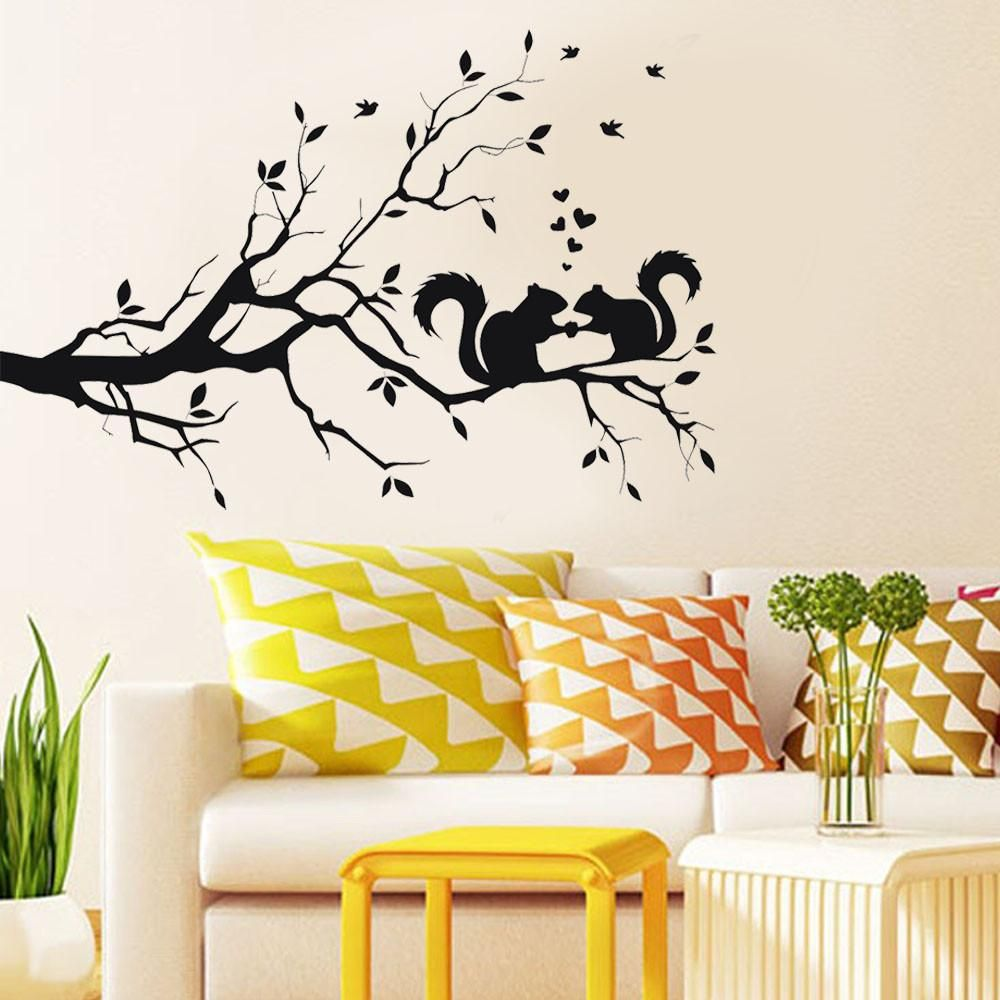 cartoon decals wall art diy children sticker wall decals pegatinas ...