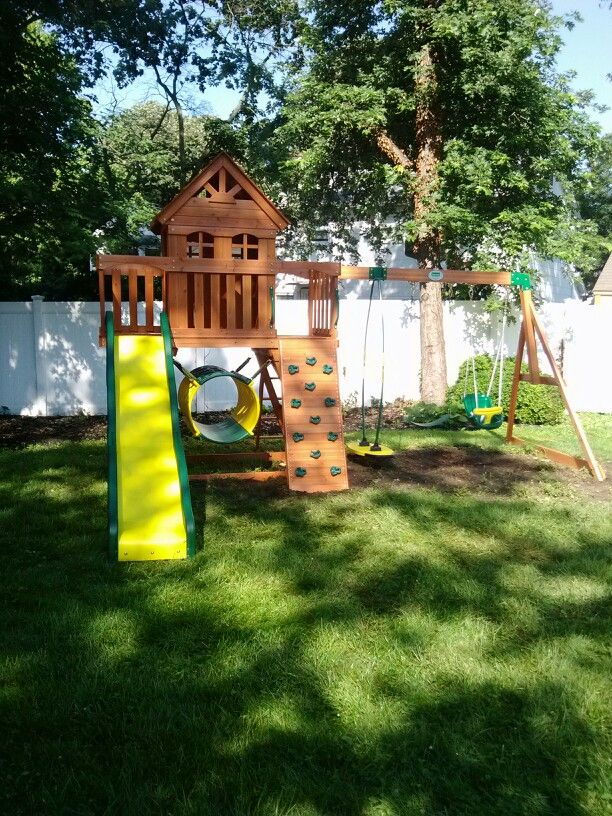 Backyard Discovery Cedar View Swing Set backyard discovery cedar view playset installed in cherry hill, nj