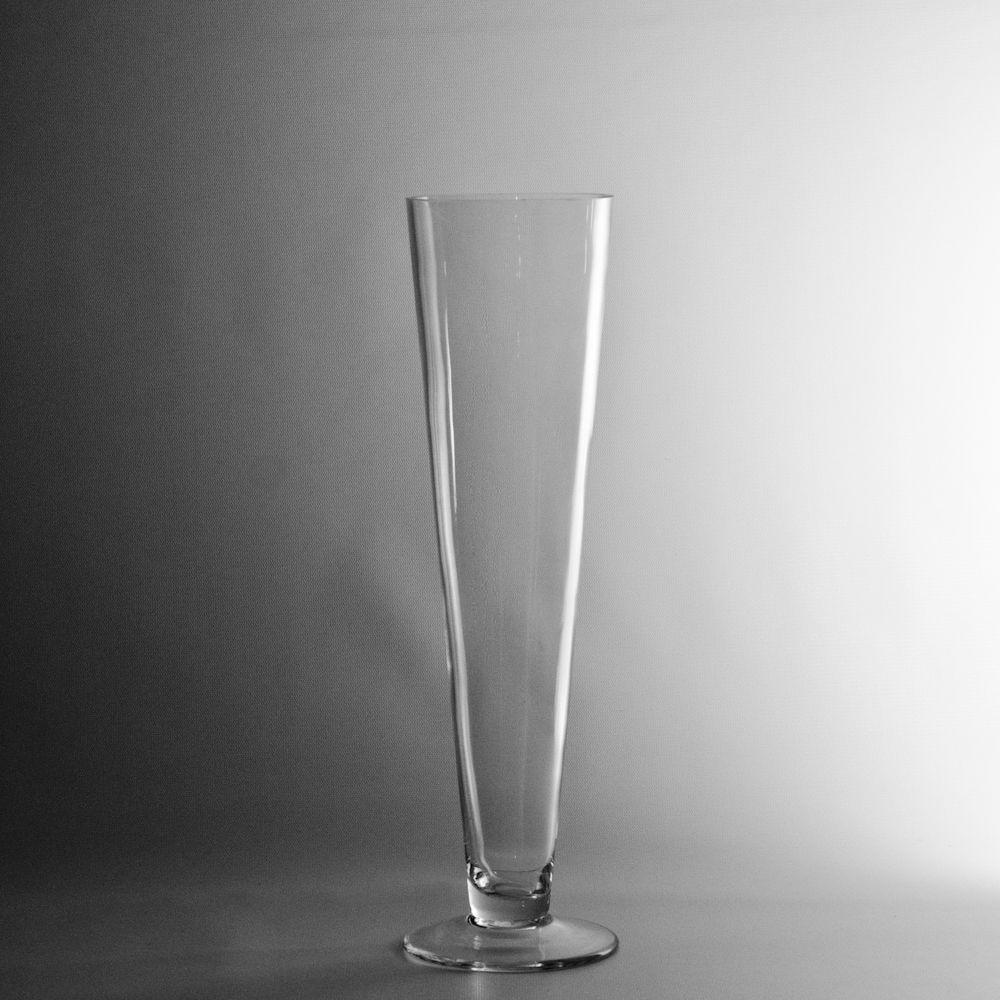 """Wedding Flower Vases Wholesale: 16"""" Clear Glass Pilsner Vase, Cylinder Vases"""